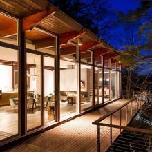 modern, contemporary, glass, light, bathroom,
