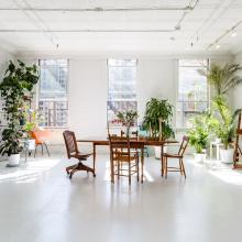 loft, light, airy, white, rooftop,