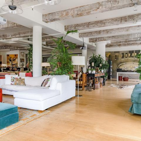 loft, bohemian, eclectic, light, kitchen,