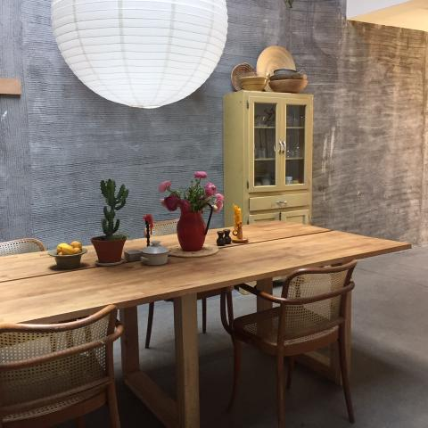 industrial, light, concrete, garden, textured walls,