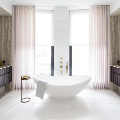apartment, modern, city view, bathroom, kitchen,