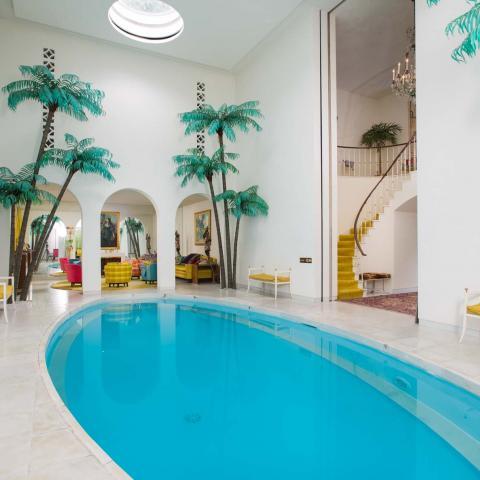 mansion, modern, colorful, beach, water, garden, kitchen, bathroom, pool,