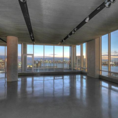 contemporary, industrial, glass, open, city view,