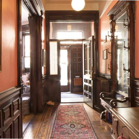 brownstone, traditional, staircase,
