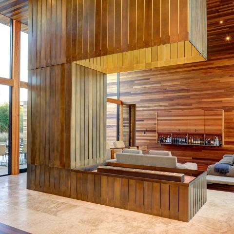 modern, Hamptons, upscale, pool, fireplace, wood, light, patio, bedroom, bathroom,