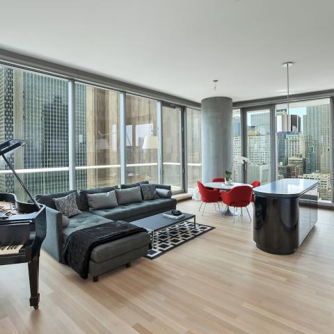 modern, apartment, glass, terrace, bathroom, city view,