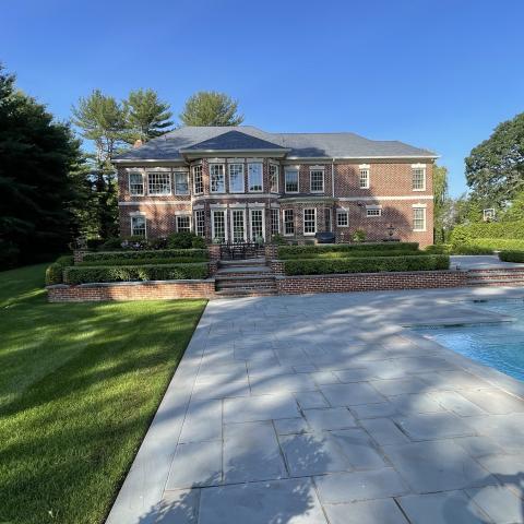suburban, pool, patio, garden,