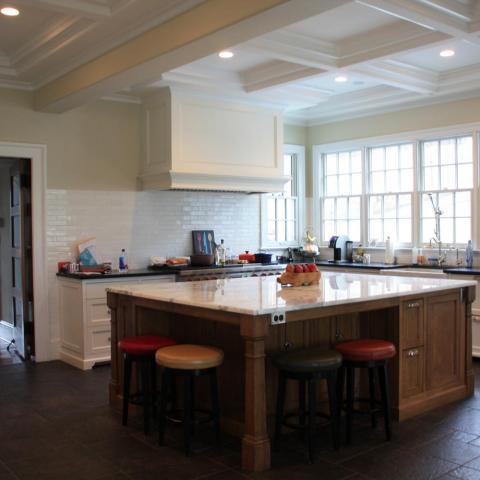 suburban, pool table, patio, staircase, fireplace, kitchen, porch, bathroom,