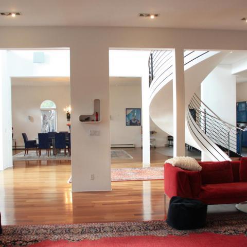 contemporary, kitchen, bathroom, staircase, suburban,