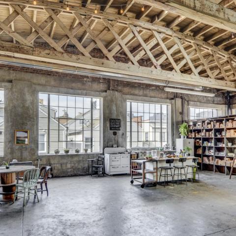 industrial, warehouse, concrete, glass, loft,