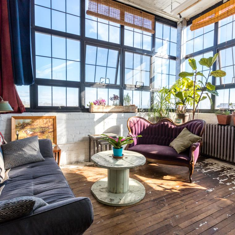 bohemian, funky, eclectic, rooftop,