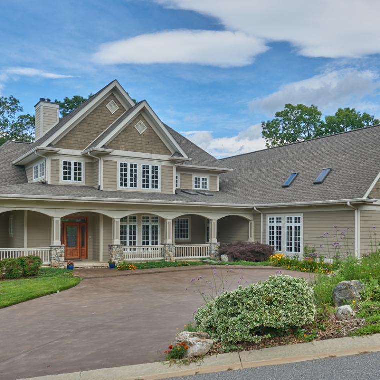 suburban, contemporary, kitchen, deck, view, gym, Asheville,
