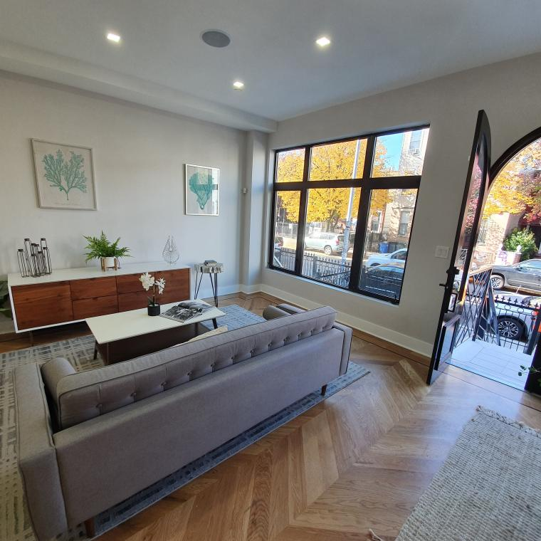 townhouse, contemporary, kitchen, light, airy, deck,