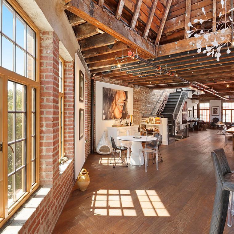 loft, light, airy, bohemian, bathroom, rooftop,