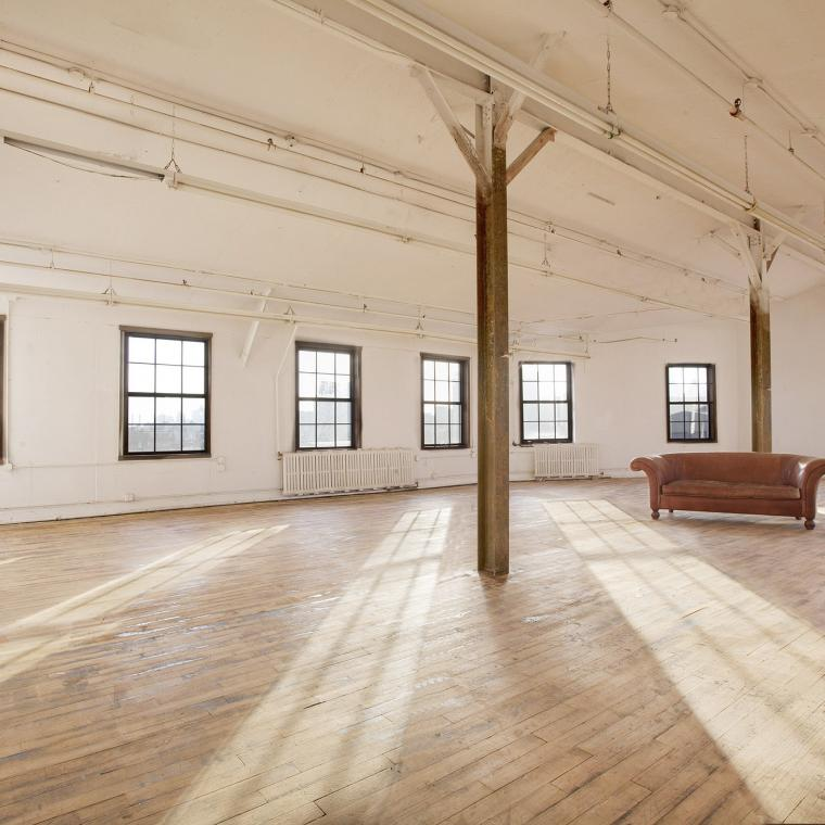 artist loft, studio, light, rustic,