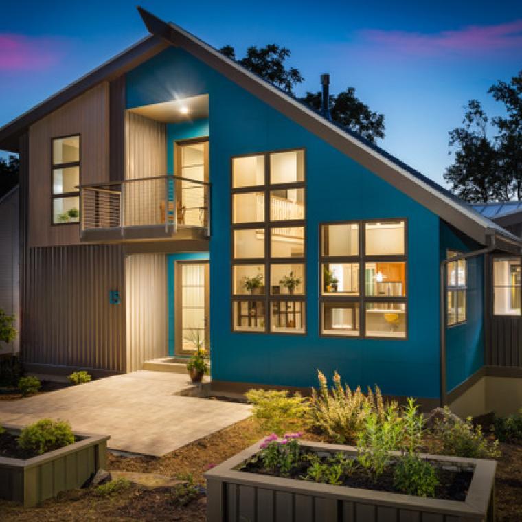 modern, contemporary, suburban, colorful, light, Asheville,