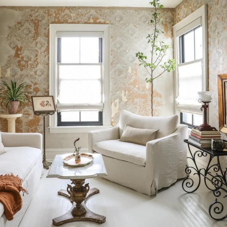 white, light, airy, bohemian, kitchen, bathroom,