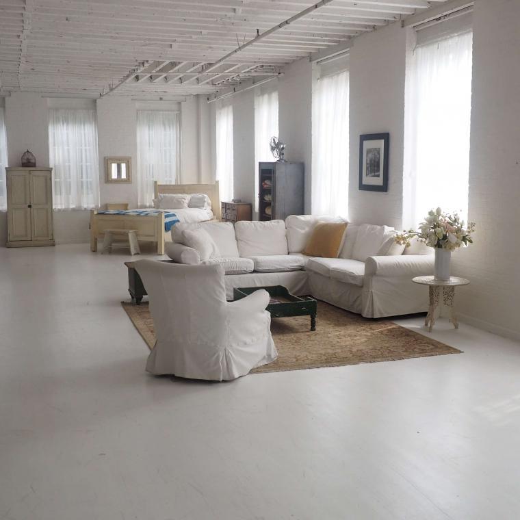 traditional, white, bathroom, kitchen, light, fireplace, loft, apartment,