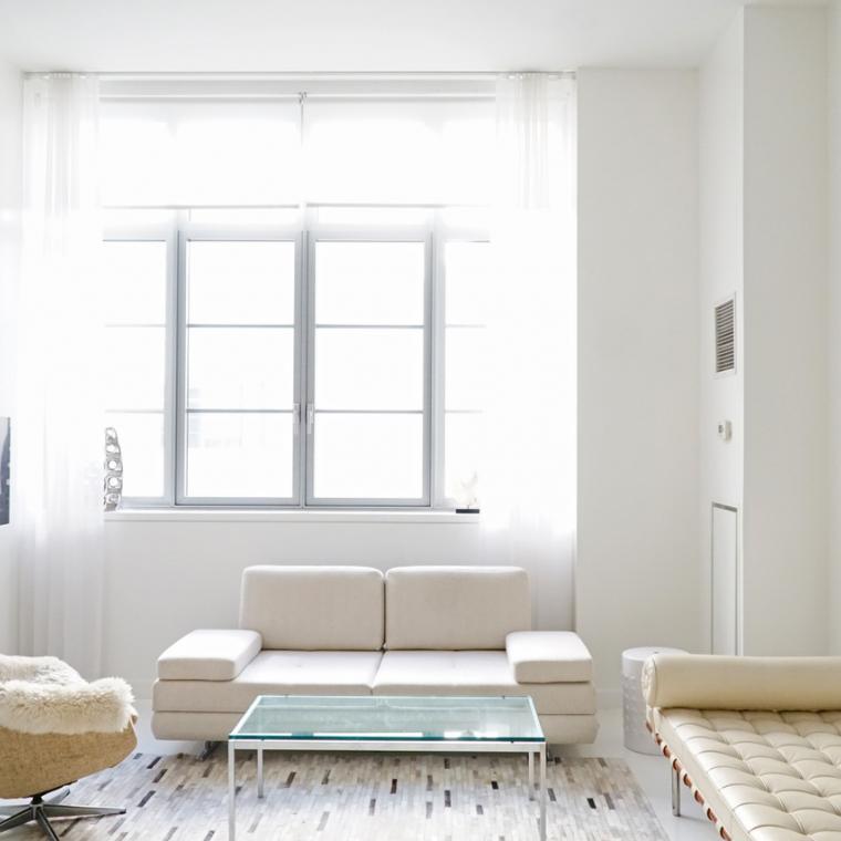 loft, apartment, white, kitchen, bathroom,