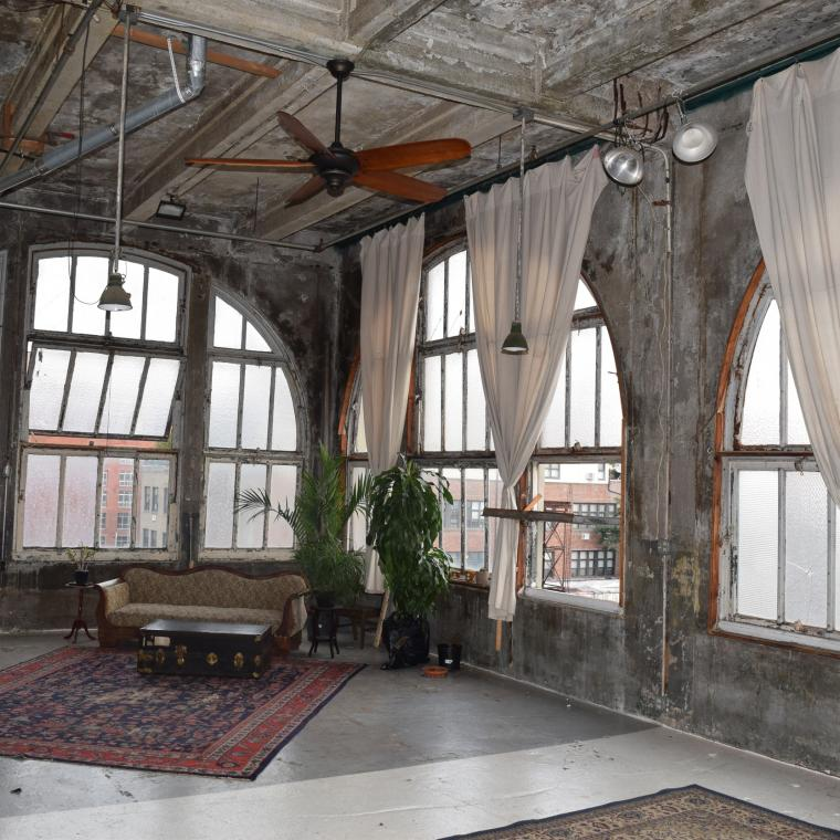 industrial, warehouse, loft, gritty, distressed, rooftop,