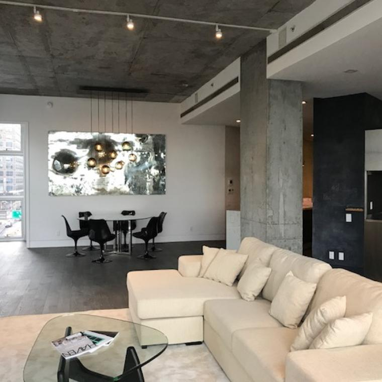 modern, industrial, contemporary, apartment, concrete,