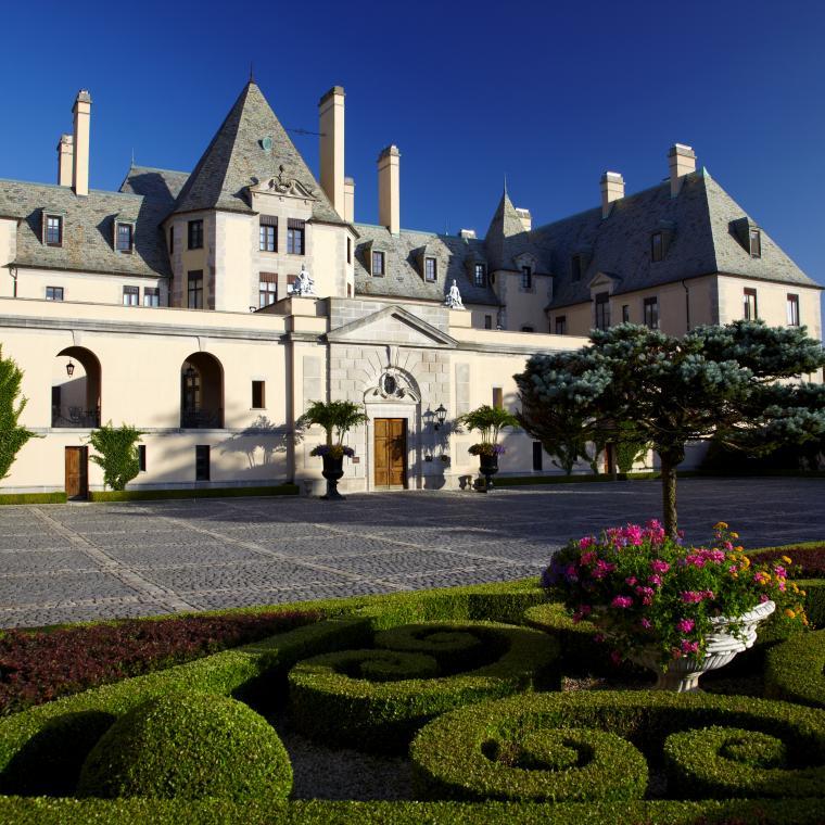 castle, ornate, pool, garden, upscale, mansion,