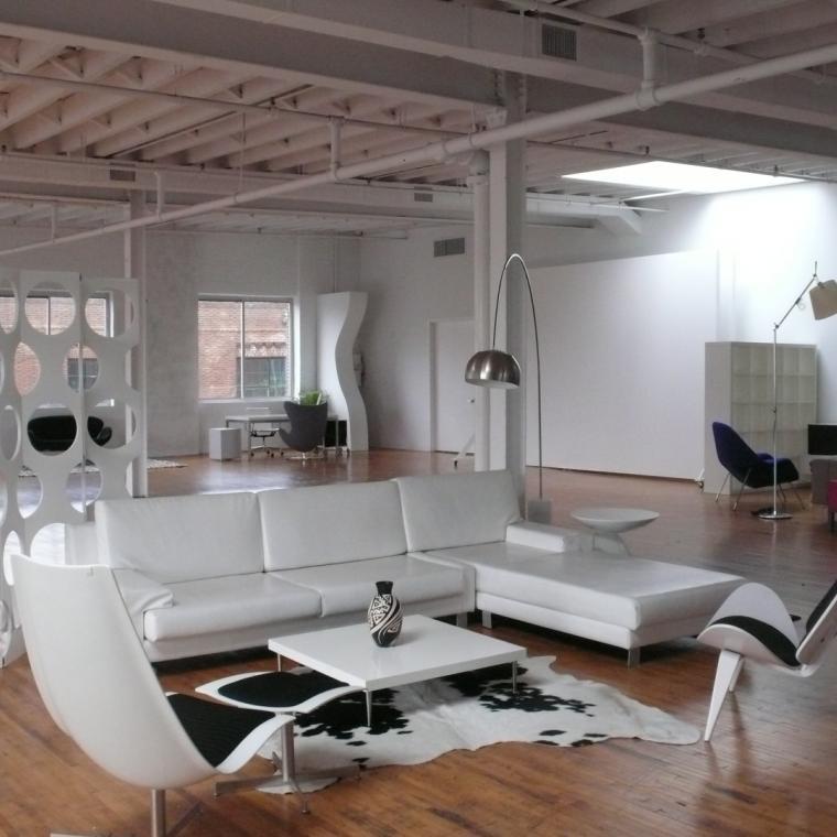 contemporary, modern, light, rooftop, bathroom, city view,