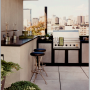 apartment,contemporary,upscale,modern,rooftop,kitchen,bathroom,rooftop