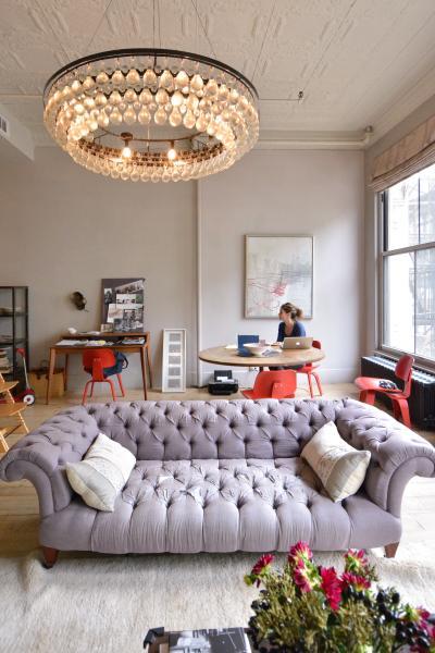 loft, apartment, modern, contemporary, bohemian, bathroom, bedroom,