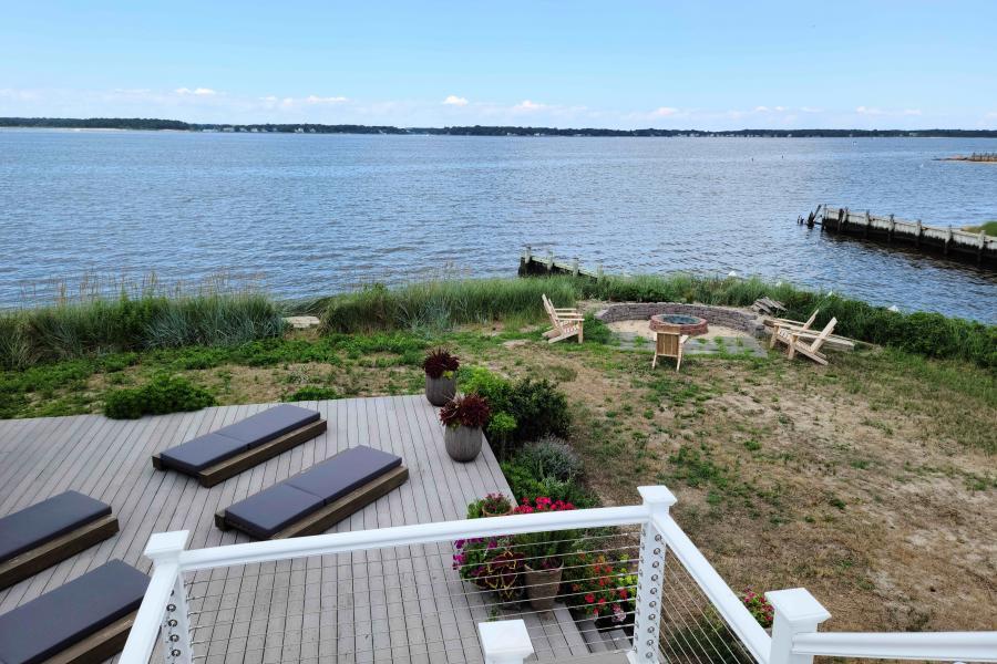 Hamptons, beach, water, deck, white, light,