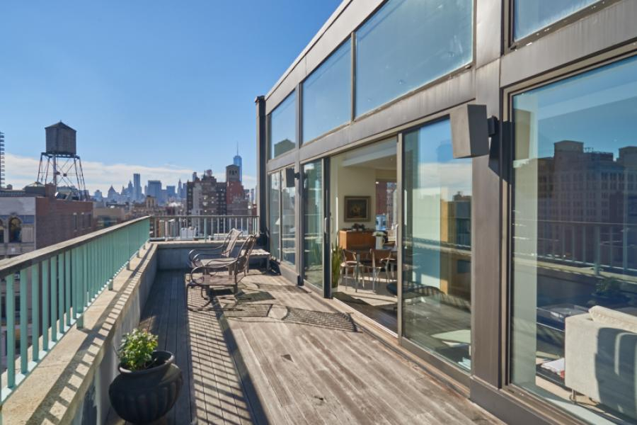 apartment, contemporary, rooftop, deck,