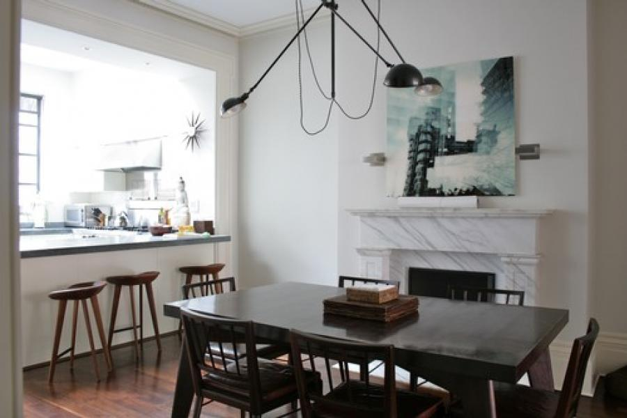 townhouse, contemporary, kitchen, garden,