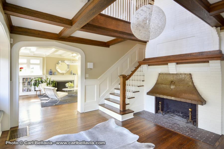 contemporary, fireplace, staircase, patio, bathroom,