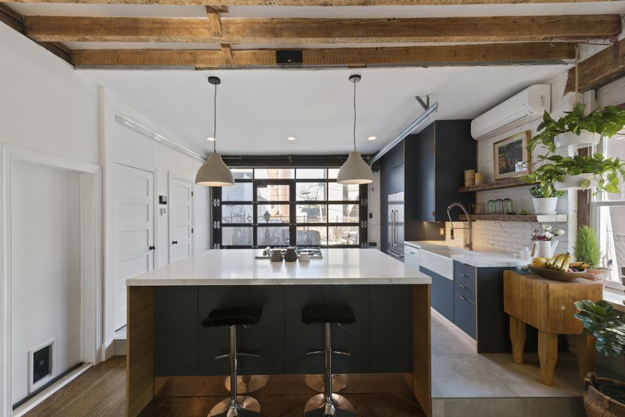 townhouse, apartment, contemporary, kitchen,
