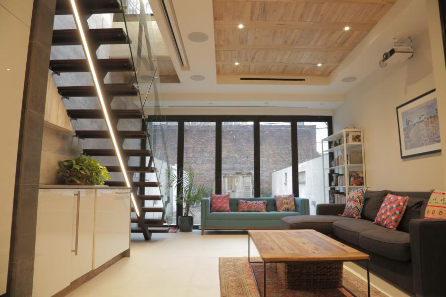townhouse, contemporary, deck, terrace, bathroom, kitchen,
