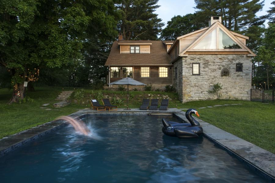 stone, farm, barn, rural, pool, kitchen,