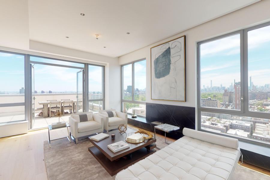 penthouse, apartment, modern, light, city view, terrace,