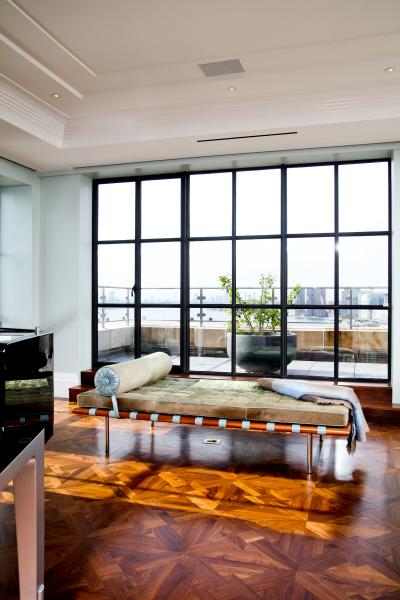 apartment, upscale, city view, terrace, contemporary, staircase,