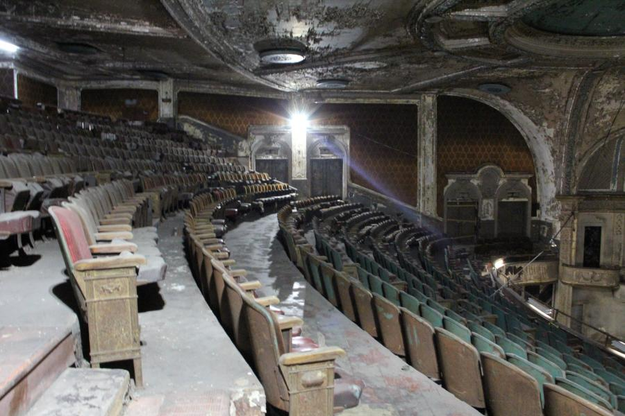 theater, distressed,