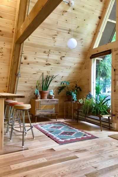 cabin, wooded, deck, country,