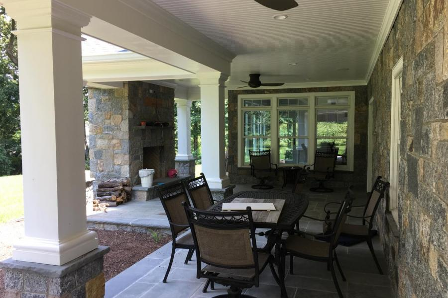 contemporary, stone, deck, fireplace, kitchen, bathroom, porch, staircase,
