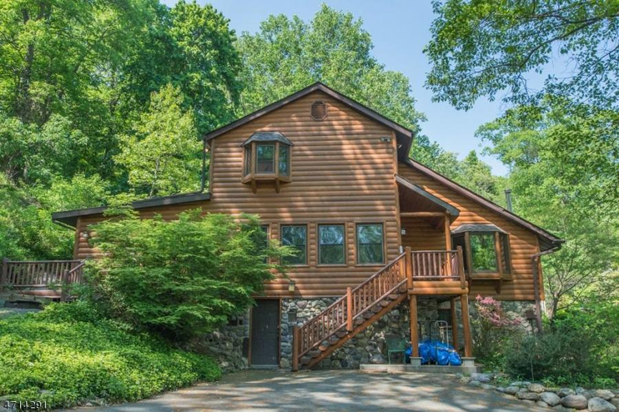 log house, rustic, contemporary, water, deck, dock,
