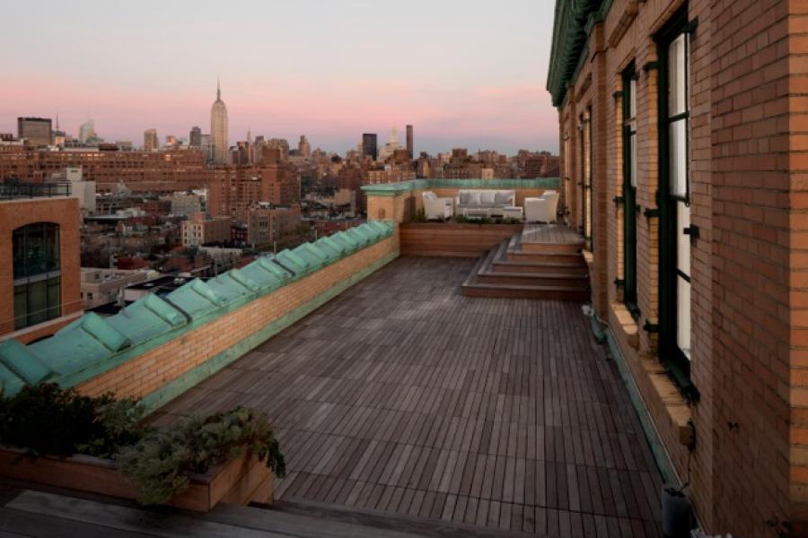 contemporary, loft, light, white, airy, terrace, city view,