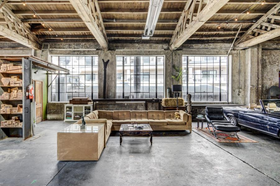 industrial, warehouse, concrete, glass, loft,