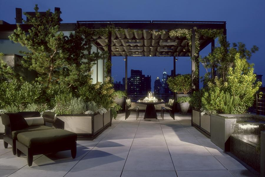 apartment, contemporary, upscale, modern, rooftop, kitchen, bathroom, rooftop, penthouse