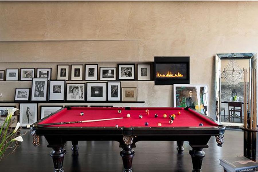 modern, contemporary, pool table, terrace,