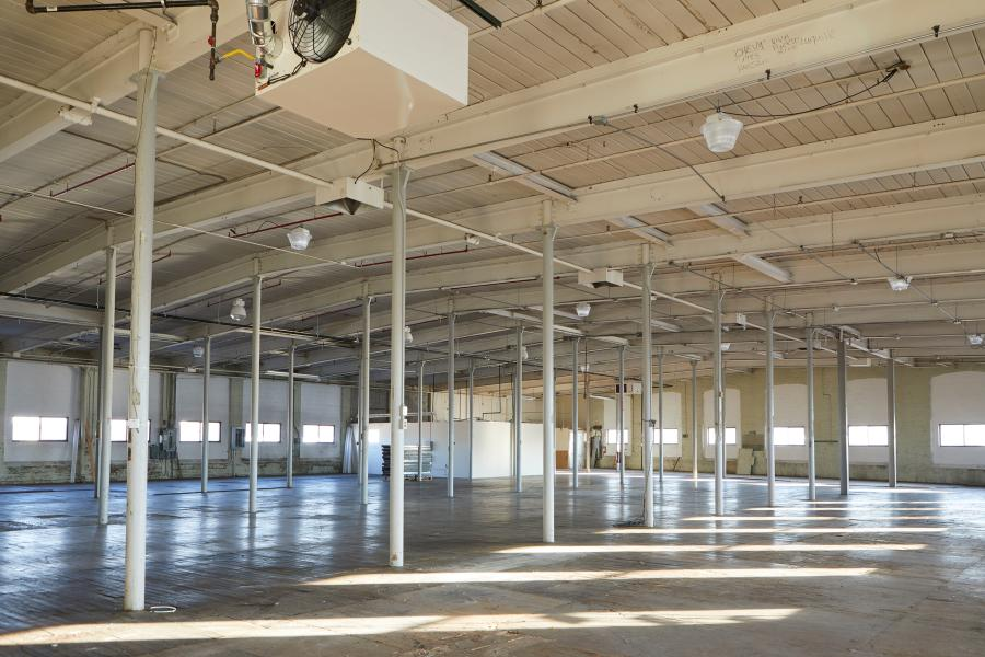 industrial, warehouse, studio, white, wood,