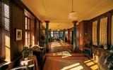 apartment, traditional, library, den study, wood,