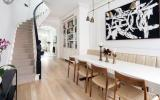 brownstone, bathroom, staircase, fireplace, contemporary,