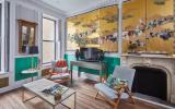 townhouse, colorful, funky, fireplace, kitchen,